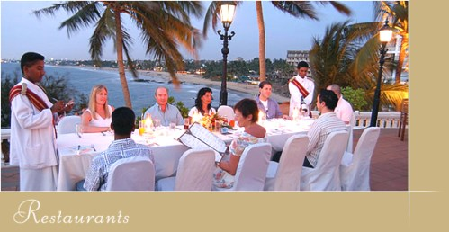 Dining on the terrace, Mount Lavinia hotel
