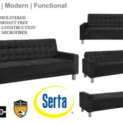 Microfiber Fabric Sofa Ikea Leather Kramfors Main Website Black Contemporary Bed Montrose Convertible Modern Futon Sleeper Grey