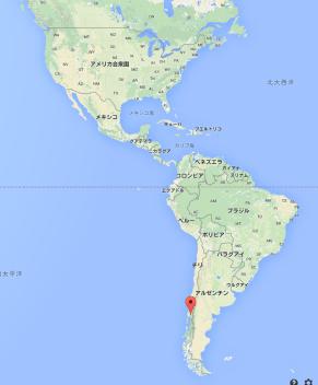 カルブコ火山 地図