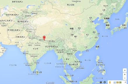 ネパール 地震 地図