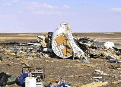 ロシア 旅客機 墜落 機体 写真