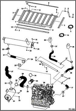 Bobcat Muffler 7100840 Flex Exhaust 6701151 & Gasket S130