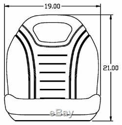 Case Skid Steer Gray Bucket Seat Fits 40xt 60xt 70xt 75xt