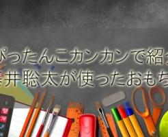 ぴったんこカンカンで紹介、藤井聡太が使ったおもちゃ