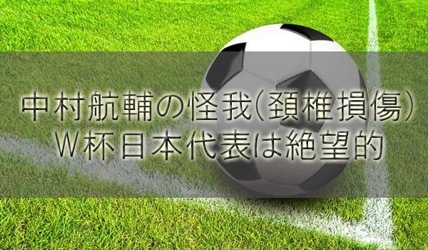 中村航輔は怪我(頸椎捻挫)の症状でW杯日本代表復帰は絶望的で出場不可濃厚
