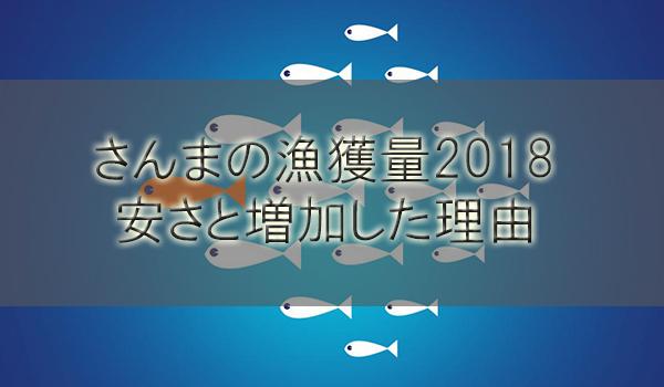 さんま漁獲量2018!今年の値段が安い理由は水揚げが激増したから