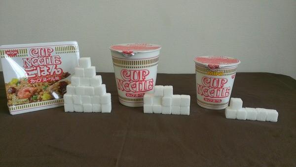 カップヌードル 糖分糖質