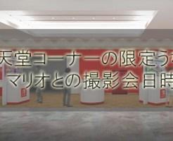 成田空港の任天堂コーナー登場!限定うちわやマリオとの撮影会日時は