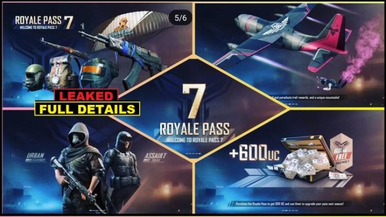 PUBG Mobile Season 7 Royale Pass Leaked - Rewards, New Content