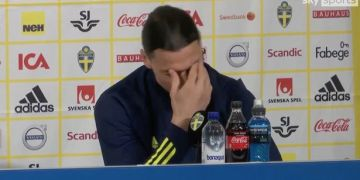 Zlatan Ibrahimovic breaks down in tears during Sweden press conference