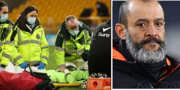 Rui Patricio injury: Wolves star leaves field in neck brace after horror collision