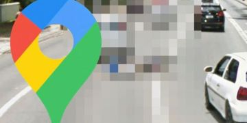 Google Maps Street View: Man caught in the middle of very painful accident