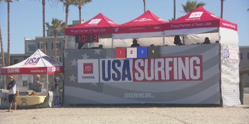 West coast top surfing talent hang ten in Oceanside at long awaited competition