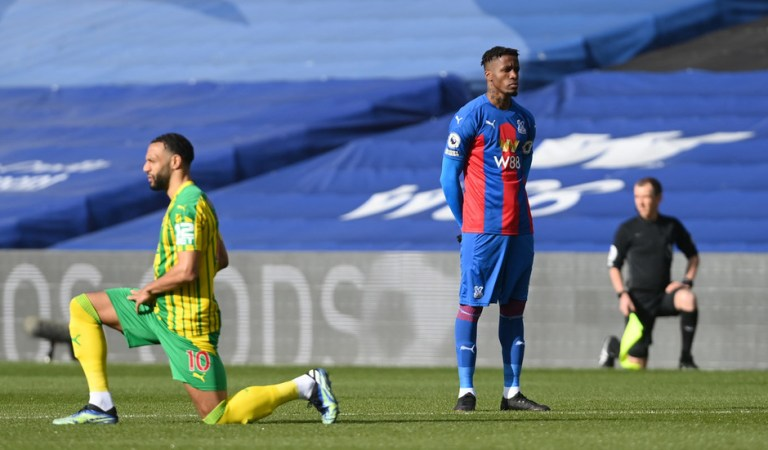 'Respect to him': Crystal Palace ace Zaha becomes first Premier League star NOT to take a knee after describing it as 'degrading'