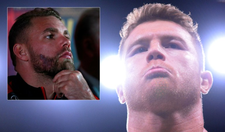 Boxing superstar Canelo to face British loudmouth Saunders in front of 100,000 – the biggest crowd since the Covid pandemic began