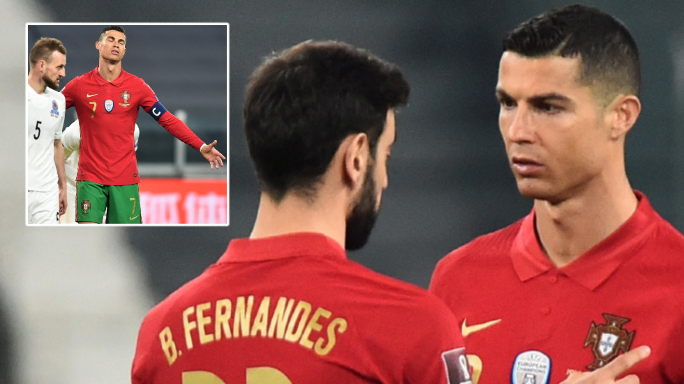 Firing blanks: Cristiano Ronaldo and Bruno Fernandes need own goal from Azerbaijan – ranked 108th in the world – for World Cup win