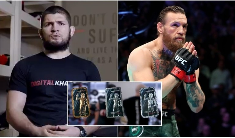 Khabib launches digital NFT cards as fans joke McGregor will buy 'diamond' version to FINALLY get chance to meet nemesis again