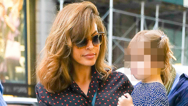 Eva Mendes Lets Daughters Esmeralda, 6, & Amada, 4, Give Her A 'Head-To-Toe' Makeover & The Result Is Epic