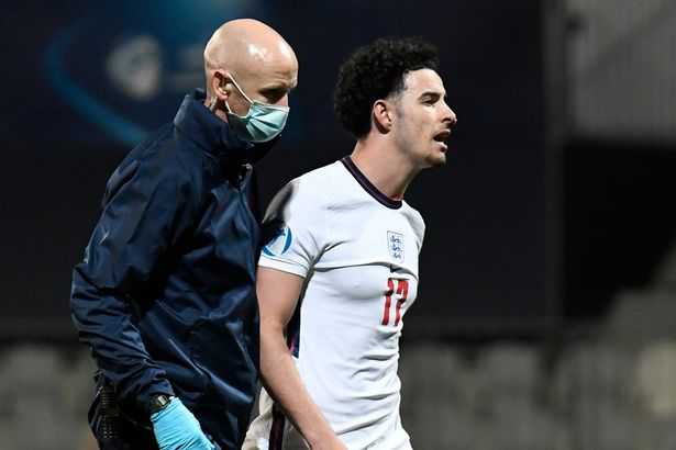 Curtis Jones sent off in bust-up after England's heartbreaking U21 Euros exit