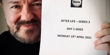 Ricky Gervais back filming new season of After Life coming to Netflix