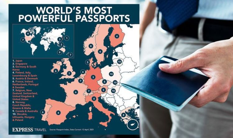 Most powerful passports in the world mapped – how strong is the British passport?