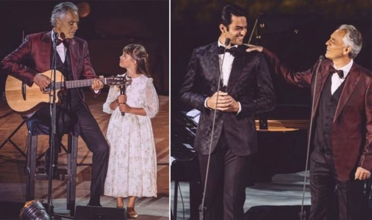 Andrea Bocelli on 'gift' of singing with kids Matteo and Virginia 'They are my strength'