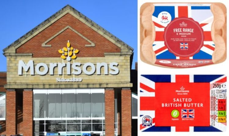 Morrisons shoppers erupt over 'intimidating' and 'patriotic' food packaging