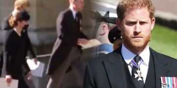 Prince Harry's body language shows 'natural closeness' with William and Kate at funeral