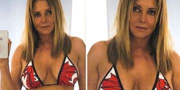Carol Vorderman, 60, sparks frenzy with eye-popping display in Welsh Dragon bikini picture