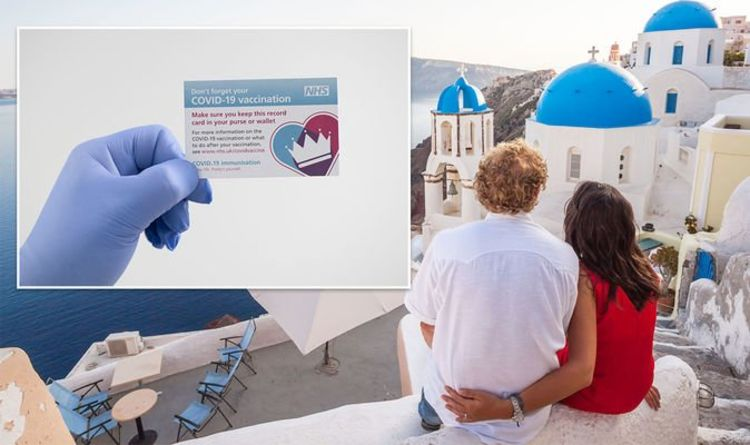 Greece 'confident' it will be on 'green list' & NHS cards to be vaccine proof for travel