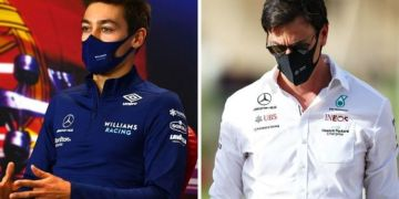 Mercedes chief Toto Wolff 'had words' with George Russell after Valtteri Bottas crash
