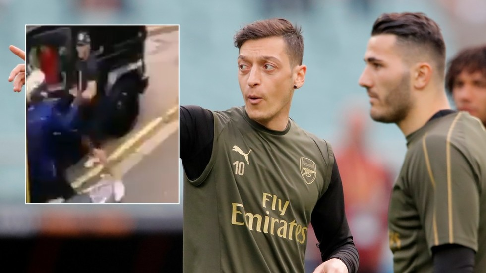 Gang of knife-wielding thugs who targeted Arsenal duo Ozil & Kolasinac jailed for more than 100 YEARS