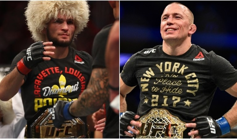 UFC legend GSP tells Joe Rogan he 'WOULD have' come back for Khabib fight, says Russian is MMA's 'scariest pound-for-pound'
