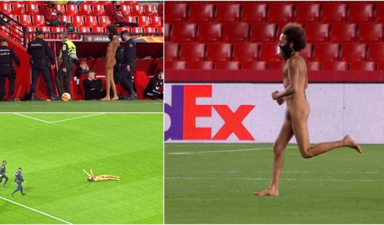 'Manifestation of desire for world peace': Local celebrity streaker named as he goes viral for holding up Granada vs Man Utd clash