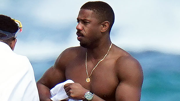 Michael B. Jordan Sizzles In Shirtless Photo As He Goes For A Dip In St. Bart's — See Pic