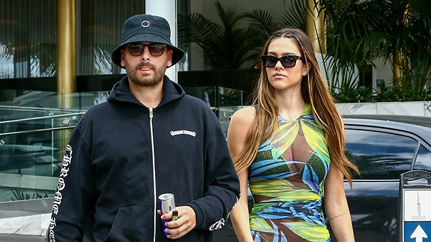 Amelia Hamlin Rocks Sequined Bikini & Sexy Sheer Cover-Up With Scott Disick In Miami
