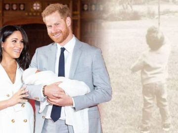 Meghan Markle and Harry show Archie as 'more independent' in 'puzzling' new birthday snap