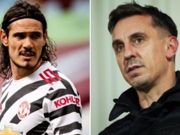 Gary Neville hails Edinson Cavani's Man Utd stay: 'He's been an absolute joy'