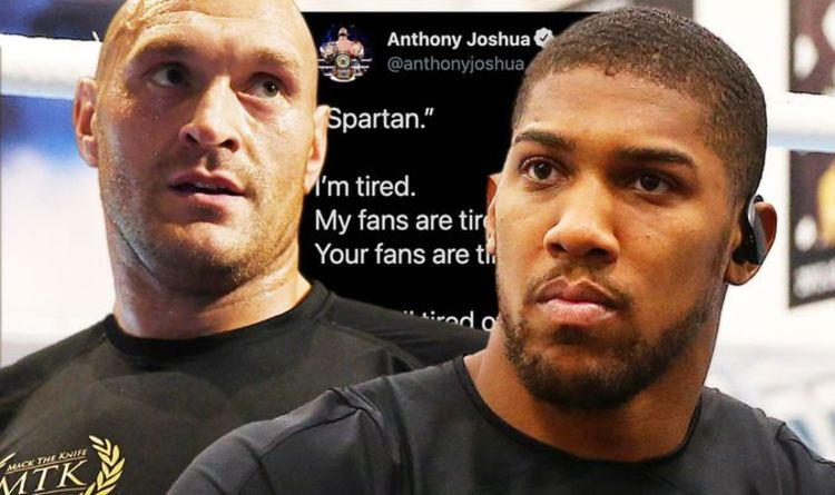 Anthony Joshua calls out Tyson Fury amid fresh £150m fight delays - 'Tired of the talk'
