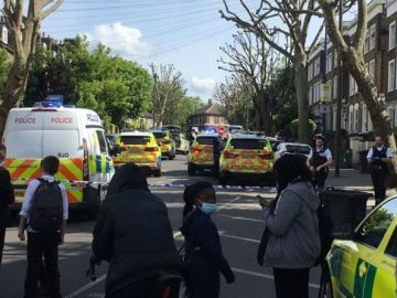 London stabbing: Man, 18, treated for 'severe injury' after 'assault' - Police on scene