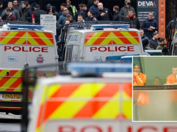 Manchester United supporter charged by police over protest against club owners the Glazers outside hotel where squad was staying
