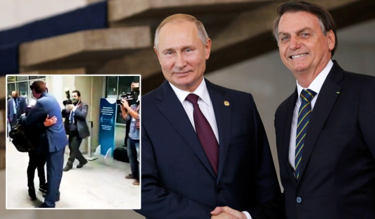 Bolsonaro greets jailed driver of ex-Spartak Moscow star Fernando with hug at Rio airport after thanking Putin for release (VIDEO)