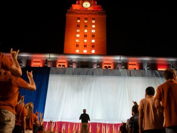 "Tensions boil at UT-Austin over ""The Eyes of Texas"", where students are refusing to work and a man with a gun crashed a virtual event"