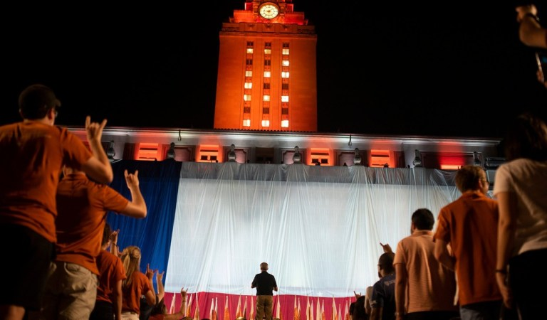 """Tensions boil at UT-Austin over """"The Eyes of Texas"""", where students are refusing to work and a man with a gun crashed a virtual event"""