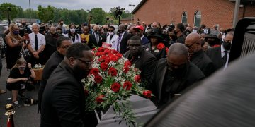 'Here We Are Again': Police Killings Loom Over Andrew Brown Funeral
