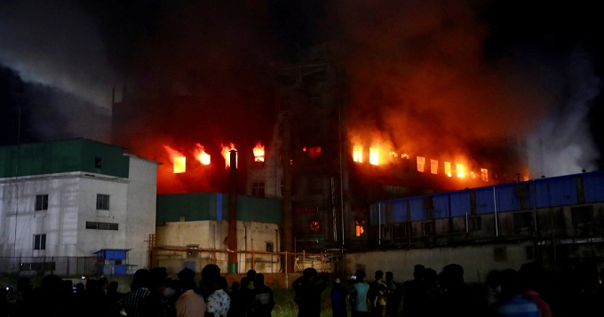 Deadly fire at Bangladesh food processing factory