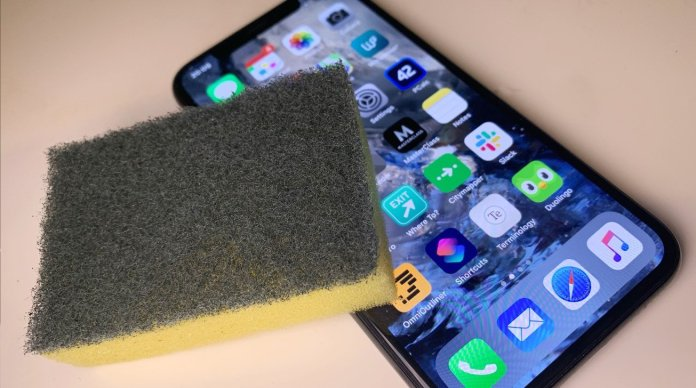 Apple says not to use hydrogen peroxide to clean its products