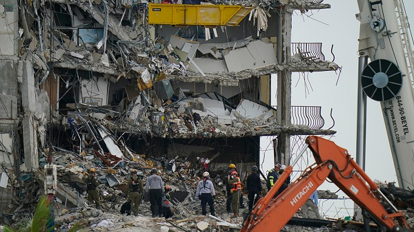 Rescue efforts at collapsed Florida condo halted due to safety concerns