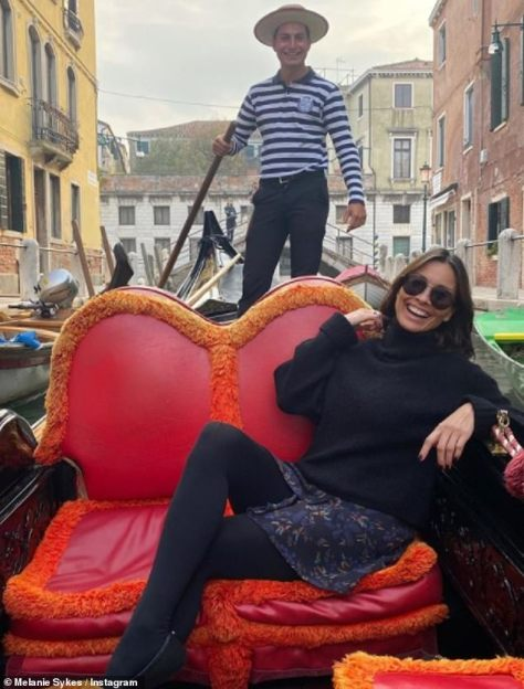 Caught her eye: The television personality recently jetted to the picturesque Italian city for her 51st birthday celebrations, where she met the gondolier last year