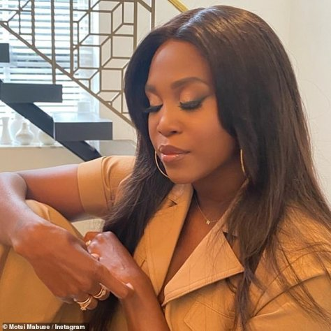 Deep in thought:Motsi took to Instagram on Saturday to address the ordeal head-on in a heartfelt post, which she penned to accompany a solemn snap of herself